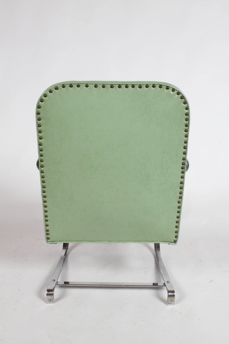 KEM Weber for Lloyd Art Deco Springer Lounge Chair For Sale 8