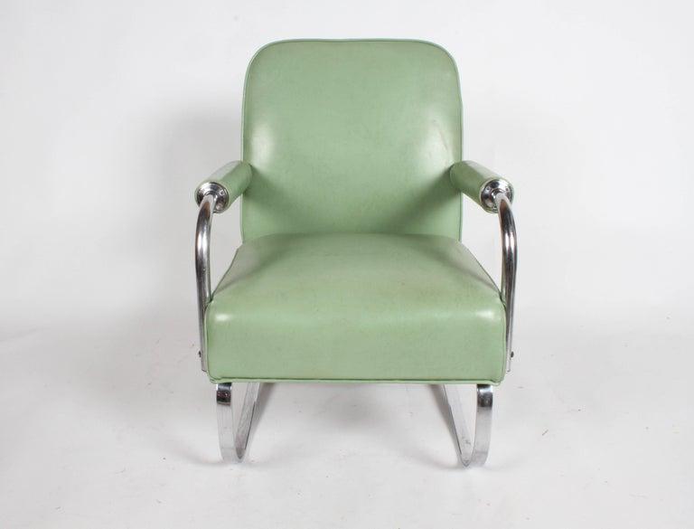 KEM Weber for Lloyd Art Deco Springer Lounge Chair For Sale 9