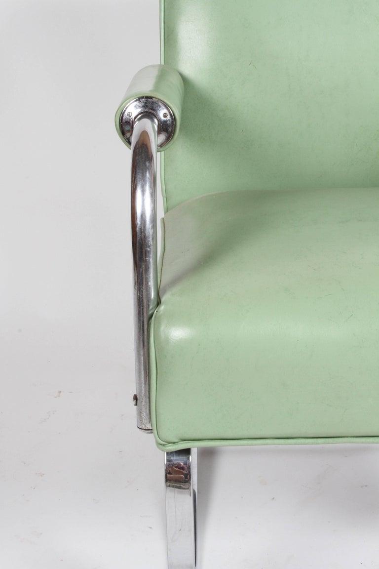 KEM Weber for Lloyd Art Deco Springer Lounge Chair For Sale 10