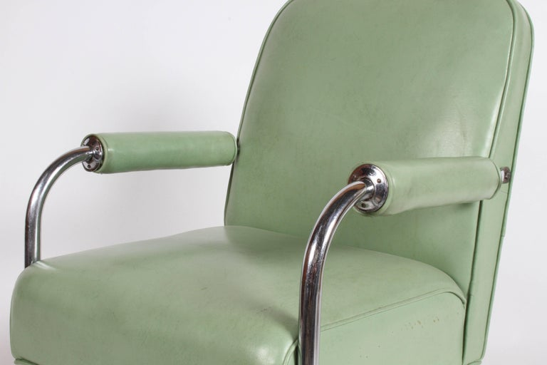 Mid-20th Century KEM Weber for Lloyd Art Deco Springer Lounge Chair For Sale