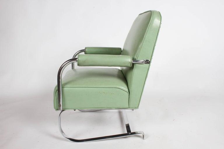 KEM Weber for Lloyd Art Deco Springer Lounge Chair For Sale 1