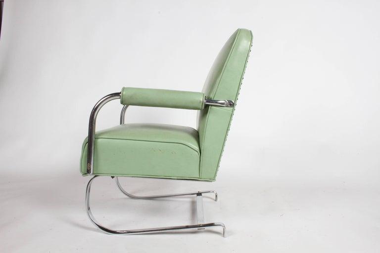 KEM Weber for Lloyd Art Deco Springer Lounge Chair For Sale 2