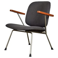 Kembo Lounge Chair Newly Upholstered in Dark Grey