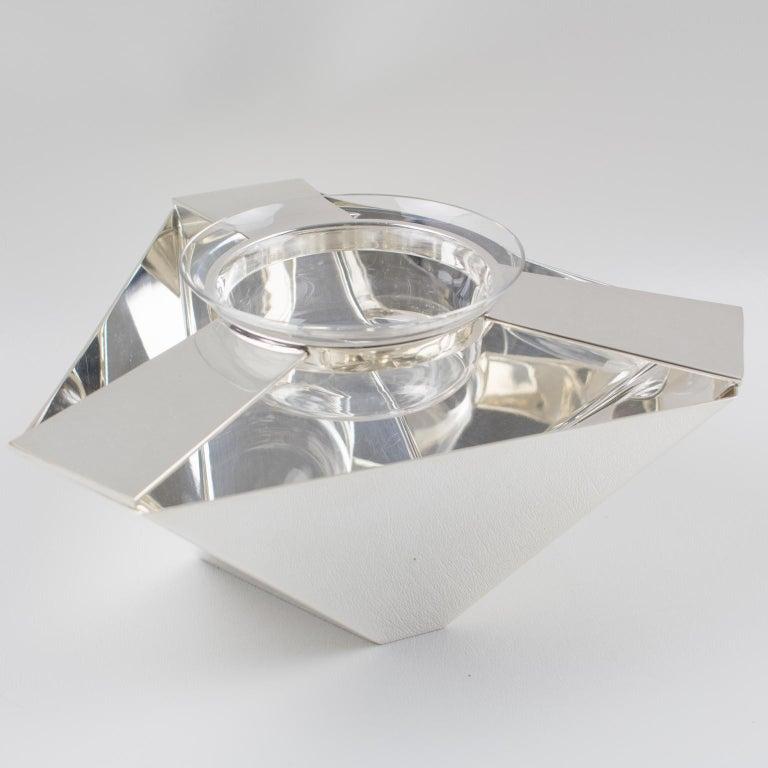 Ken Benson for St James Brazil Silver Plate Caviar Serving Bowl Barware For Sale 4