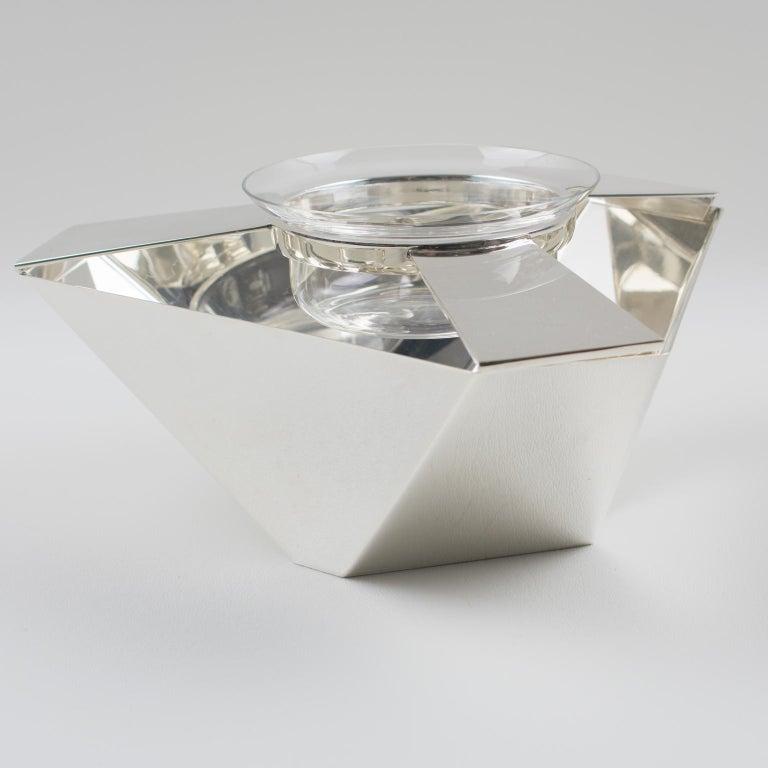 Brazilian Ken Benson for St James Brazil Silver Plate Caviar Serving Bowl Barware For Sale