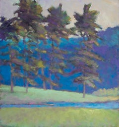 At the Creeks Edge - Transitional Landscape Oil Painting, Wolf Kahn influence