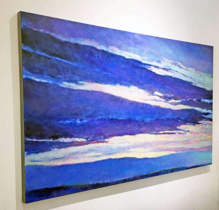 Blue Skyscape - Neo-Expressionist Painting by Ken Elliott