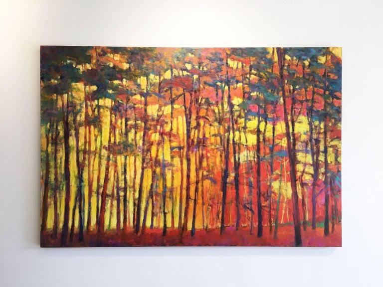 Brightly Lit Woods - Painting by Ken Elliott