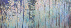 'Forest Sequence I (Diptych)', Large Transitional Landscape Oil Painting
