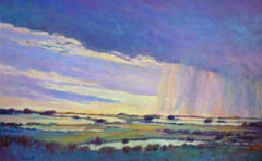 Rain Moving Along the Marsh