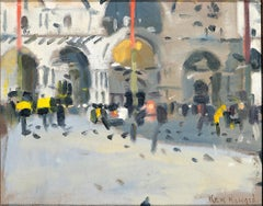 Cityscape of Venice Modern British painting by Ken Howard 'San Marco 2010'