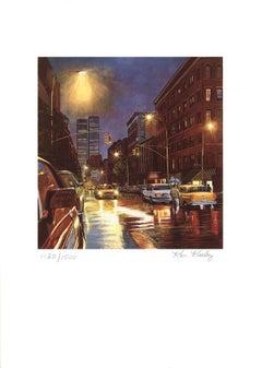 1985 Ken Keeley 'Prince Street, New York' Realism Brown USA Serigraph
