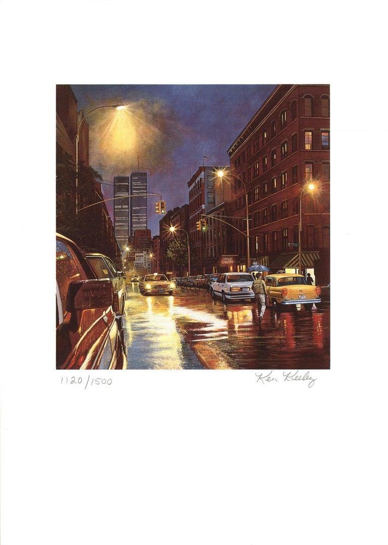 1985 Ken Keeley 'Prince Street, New York' Realism Brown USA Serigraph - Print by Ken Keeley