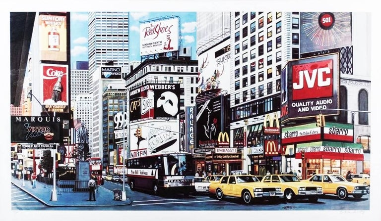 Ken Keeley Landscape Print - TIMES SQUARE DAY