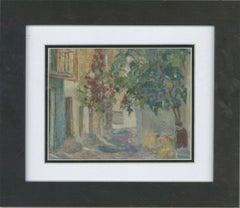 Ken Moroney (b.1949) - 20th Century Oil, Spanish Street Scene