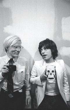 Andy Warhol and Mick Jagger