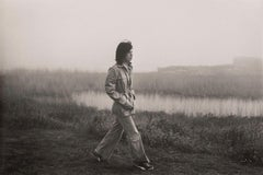 Mick Jagger on the grounds of Andy Warhol's Montauk home in 1975