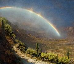 Ken Salaz - Rainbow in the Desert, Catalina Mountains near Tucson