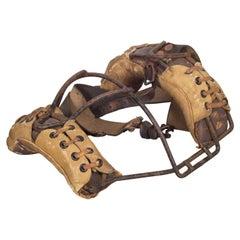 Ken-Wel Leather Catcher's Mask, circa 1940