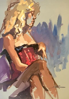 Figure Study 6 by Kendall Portis 2018,  Petite Vertical Figurative on Paper