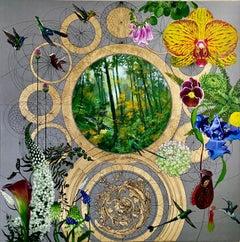 Marcus Aurelius Wedding - contemporary floral colourful decorative mixed media