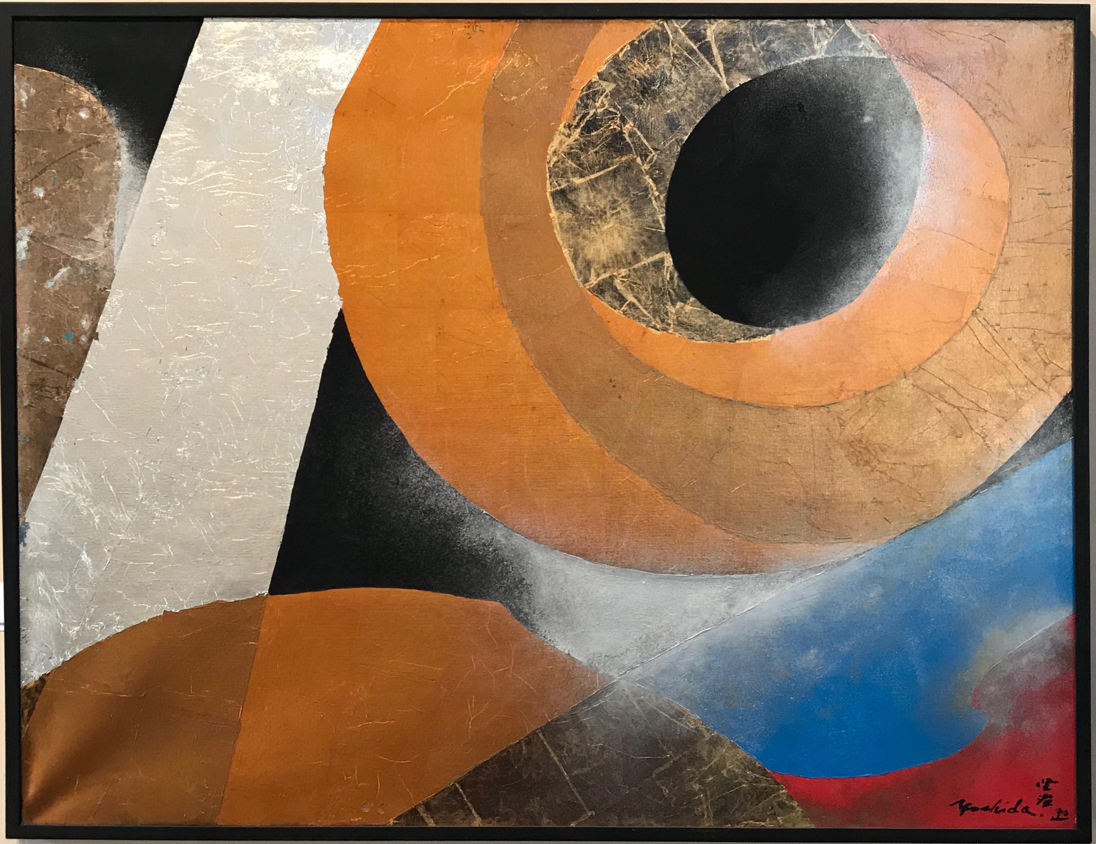 La Vie 13, Kenji Yoshida, Nihonga Japanese painting gold silver copper blue red