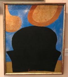 La Vie 64, painting by Kenji Yoshida, oil paint, gold leaf, copper leaf, silver