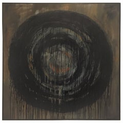 Kennan Del Mar 'Black Hole on Black' Painting, Oil and Pastel on Canvas