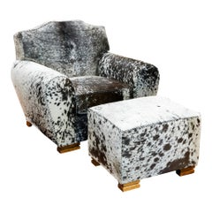 Kennedy Collection Customizable Longhorn Armchair and Ottoman