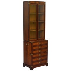 Kennedy Furniture Harrods Military Campaign Mahogany Bookcase Drawers