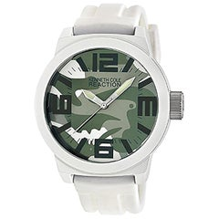 Kenneth Cole Reaction Silicone White Band Men's Quartz Watch RK1293