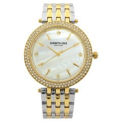 Kenneth Cole Two-Tone Steel MOP Dial Quartz Womens Watch KC50018001