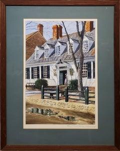 Raleigh Tavern Doorway In Williamsburg Virginia by Kenneth Harris