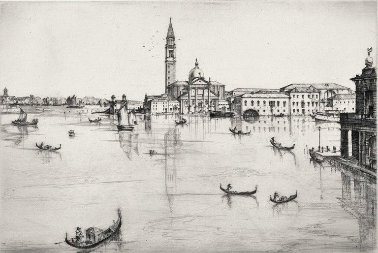 San Giorgio, Maggiore, Venice.  - Modern Print by Kenneth Holmes, A.R.C.A.