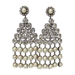 Kenneth Jay Lane 1960s Embellished Earrings