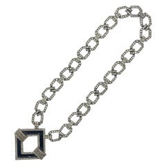 Kenneth Jay Lane 1980s Art Deco Revival Necklace