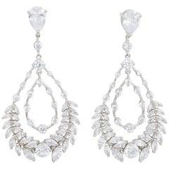 Kenneth Jay Lane Cubiz Zirconia Laurel Dramatic Dangle Drop Double Earrings, KJL