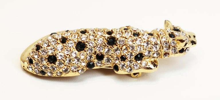 Kenneth Jay Lane Gold Leopard Fur Clip For Sale 4