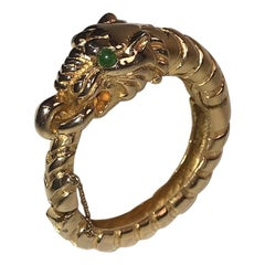 Kenneth Jay Lane, K.J.L. Early Tiger Bangle Bracelet