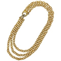 Kenneth Jay Lane, K.J.L. Pre 1973s Snake Clasp Necklace.