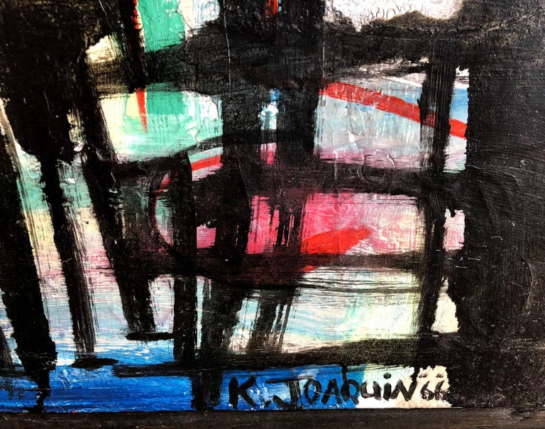 Abstract modernist oil on canvas painting entitled