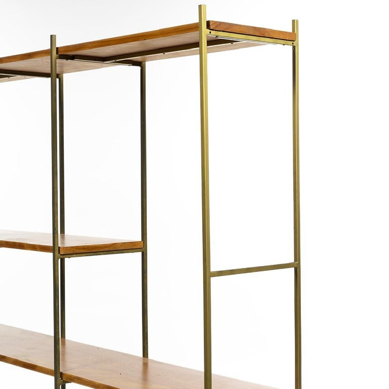 American Kenneth Lind Mid-Century Wood & Metal Room Divider, circa 1950s For Sale