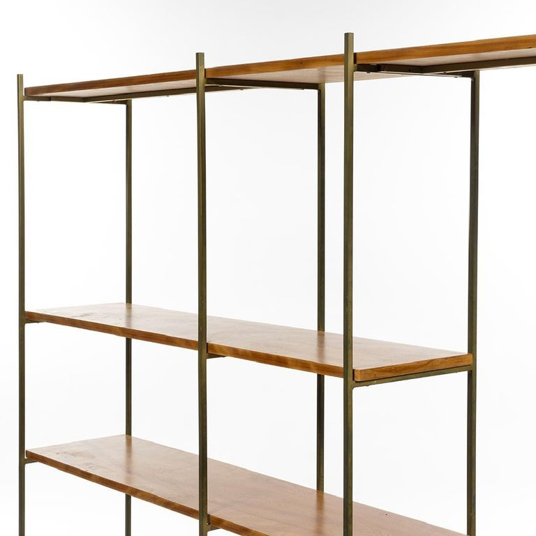 Painted Kenneth Lind Mid-Century Wood & Metal Room Divider, circa 1950s For Sale