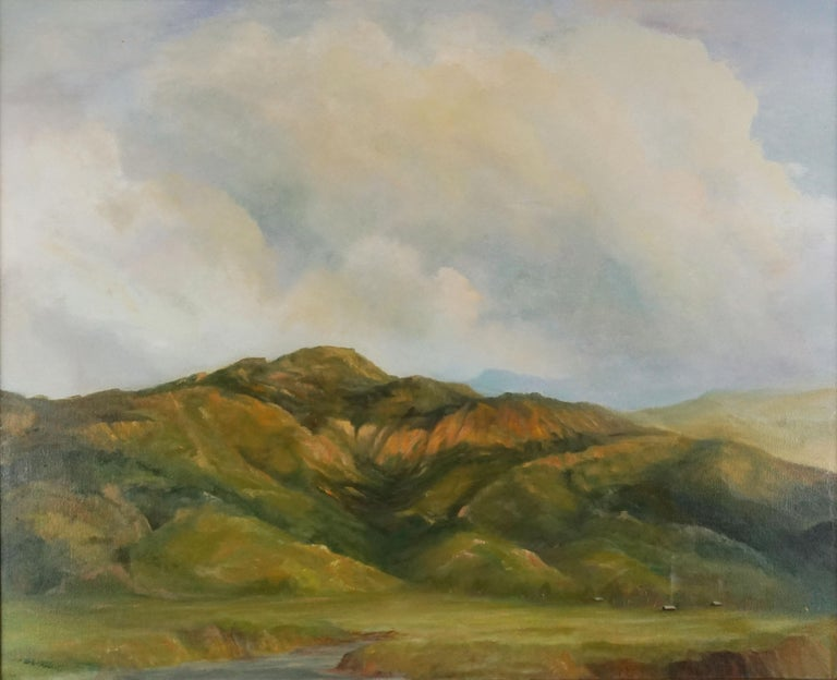 California Central Coast Foothills Landscape - Painting by Kenneth Lucas
