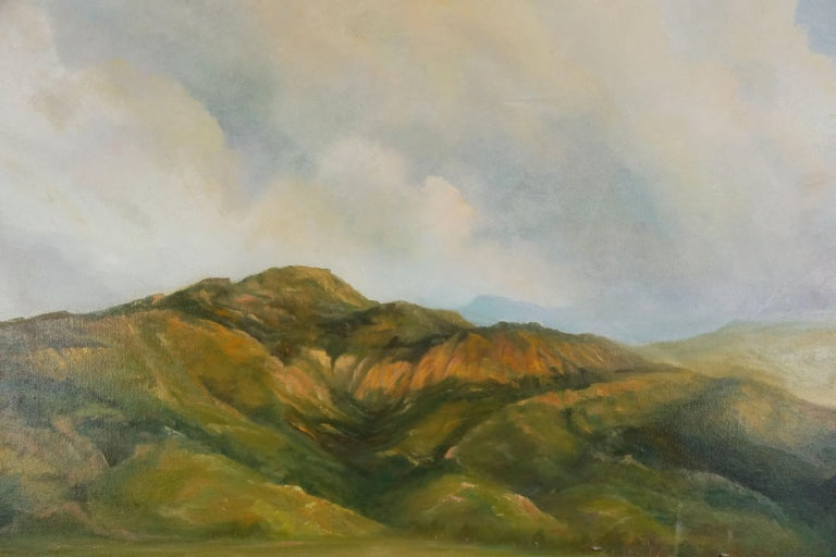 California Central Coast Foothills Landscape - American Impressionist Painting by Kenneth Lucas
