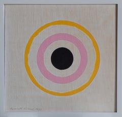 """Untitled"" by Kenneth Noland, Acrylic and ink on linen book cover, 1977"