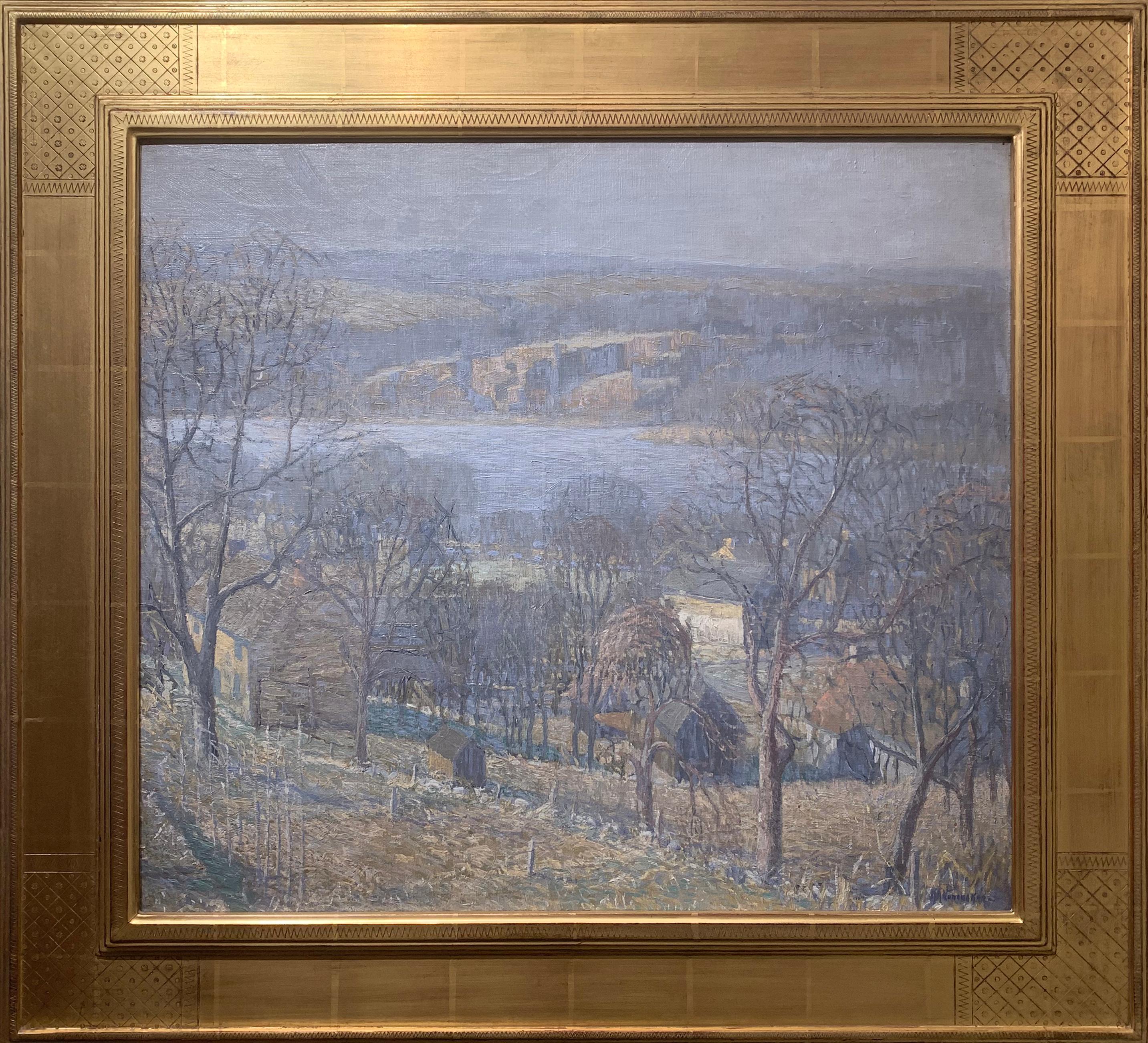 Delaware River View, Pennsylvania Impressionist Landscape, Center Bridge