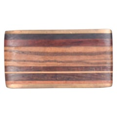 Kenneth Reid Modern Hip Cowboy Brass Wood Belt Buckle 01