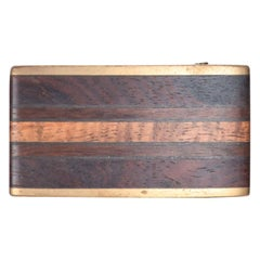 Kenneth Reid Modern Hip Cowboy Brass Wood Belt Buckle 02