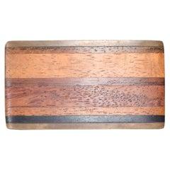 Kenneth Reid Modern Hip Cowboy Brass Wood Belt Buckle 03